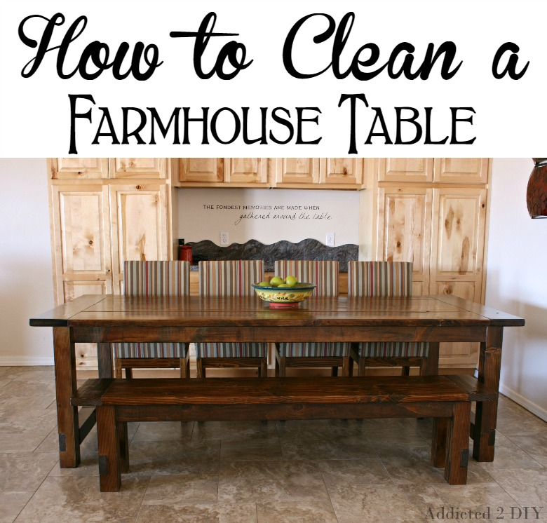 How to Clean a Farmhouse Table