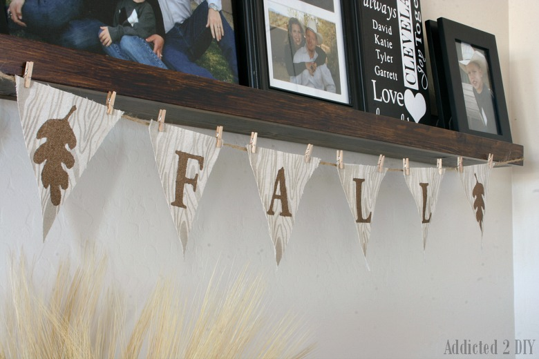 Wood Grain Fall Banner