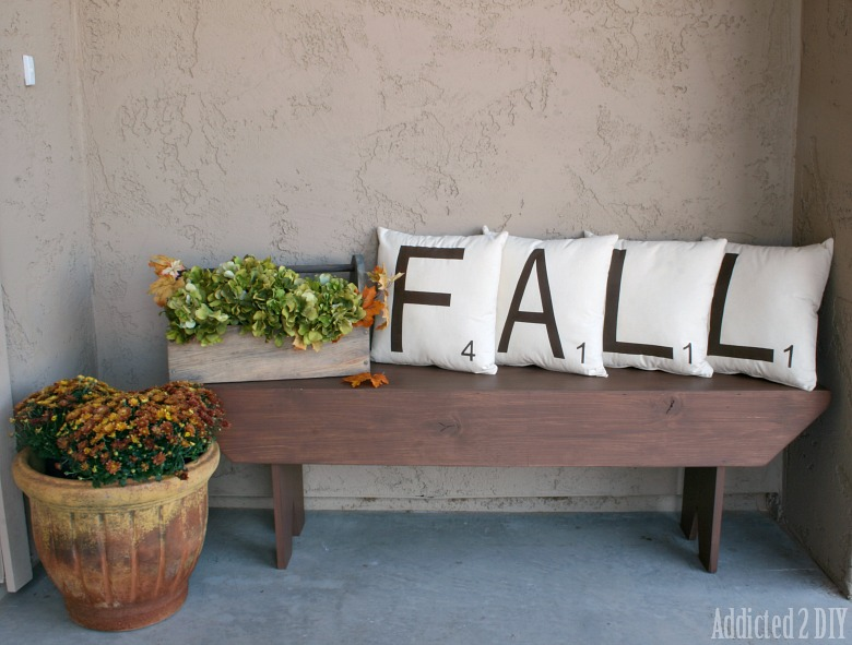 Scrabble Tile Fall Pillows {with a Twist}