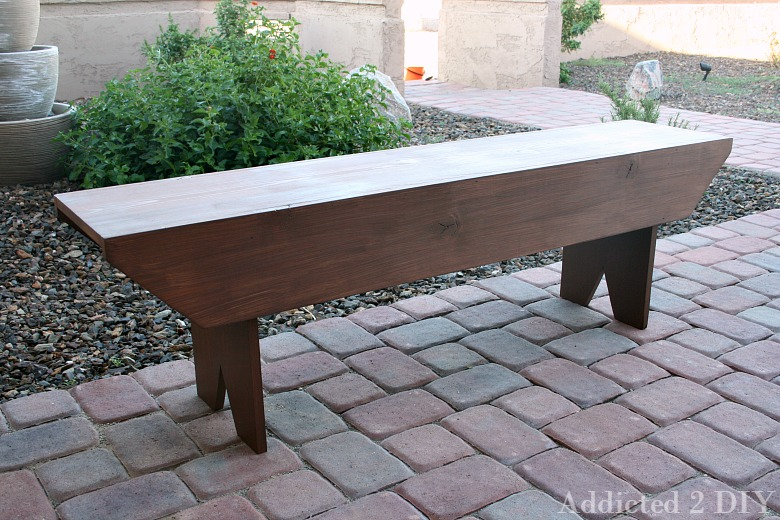 Simple DIY Rustic Bench