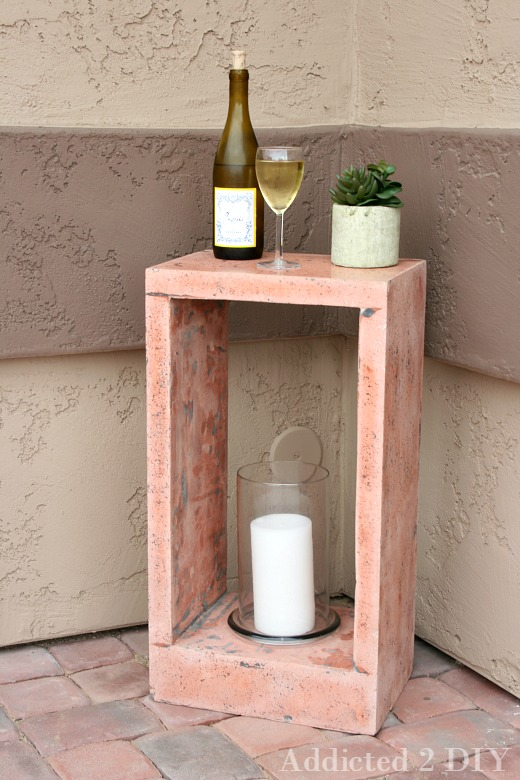 DIY Concrete Side Table - Addicted 2 DIY