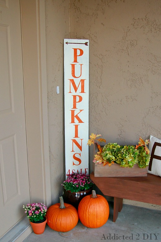 Chalky Finish Outdoor Sign for Fall