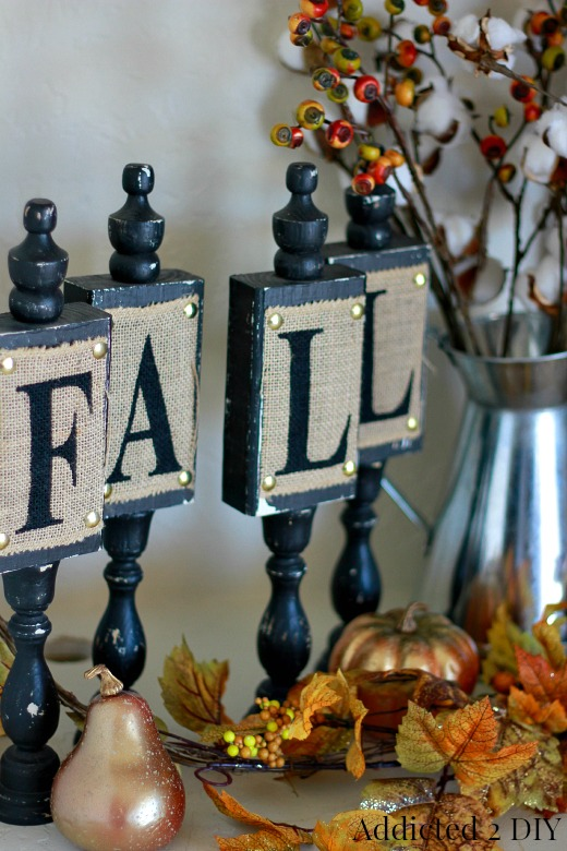 Repurposed DIY Fall Candlestick Decor