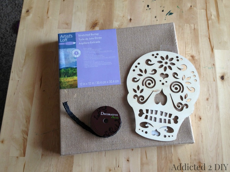 Pottery Barn-Inspired Skull Art