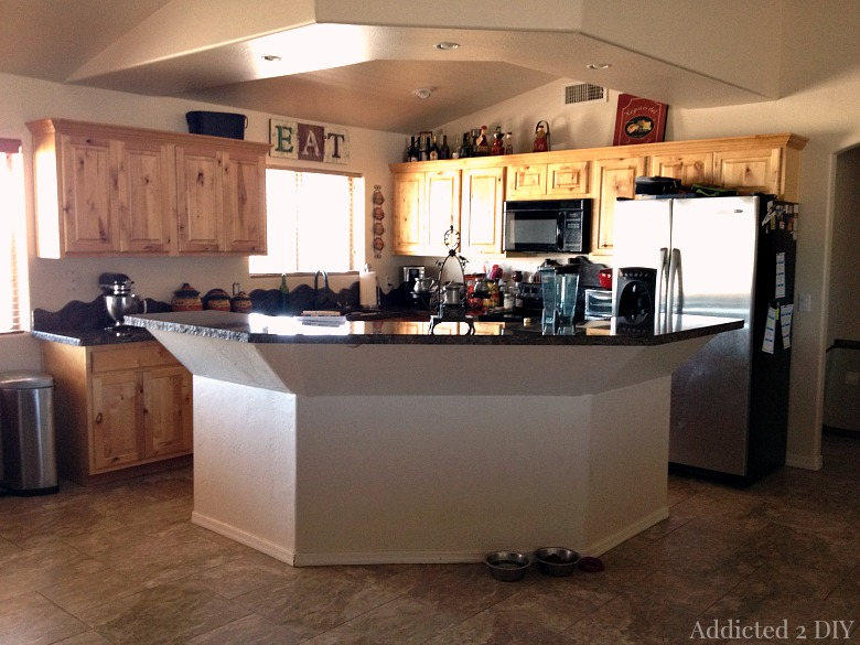 Before and After:  DIY Kitchen Island Makeover