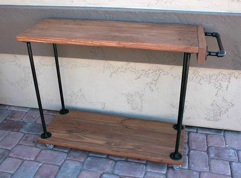 diy rustic industrial bar cart addicted 2 diy