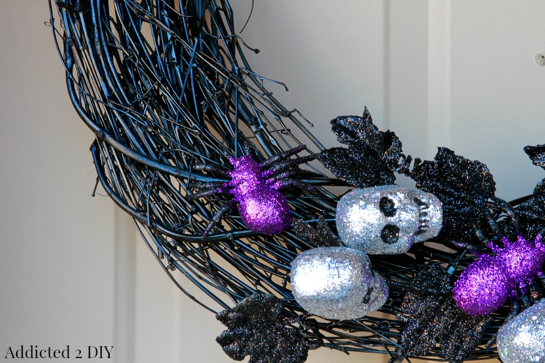 Ghoulish Glam Halloween Wreath