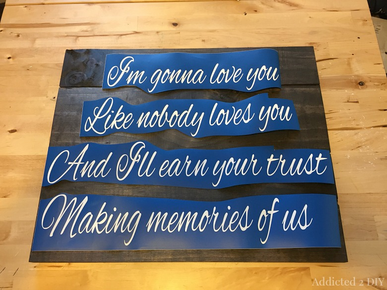 Wedding Song Wood Art {A Sentimental Gift Idea}