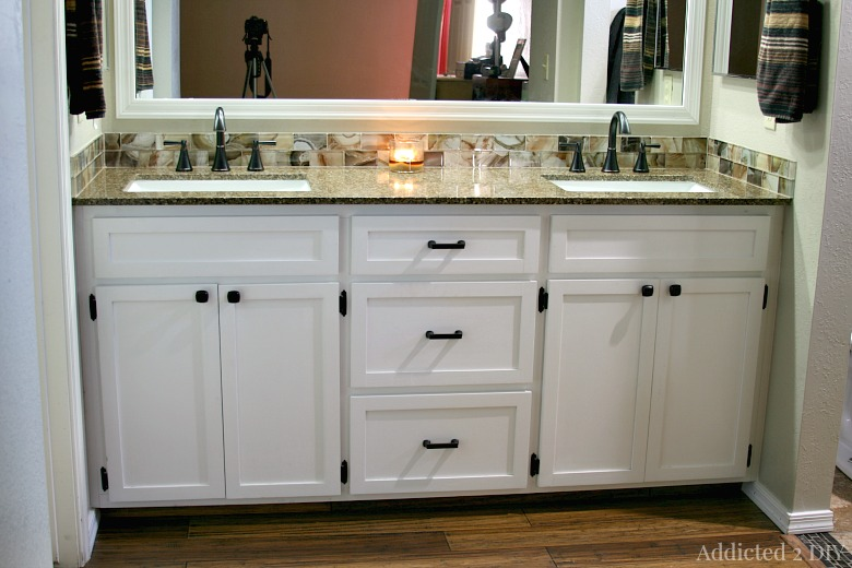 DIY Double Bathroom Vanity Addicted DIY - Bathroom remodel double sink vanity