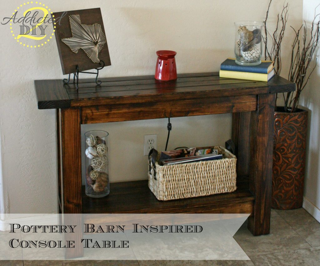 Pottery Barn-Inspired Console Table