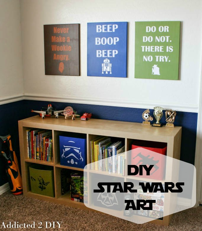 Diy Star Wars Wall Decor Plus Free Svg Files Addicted 2 Diy