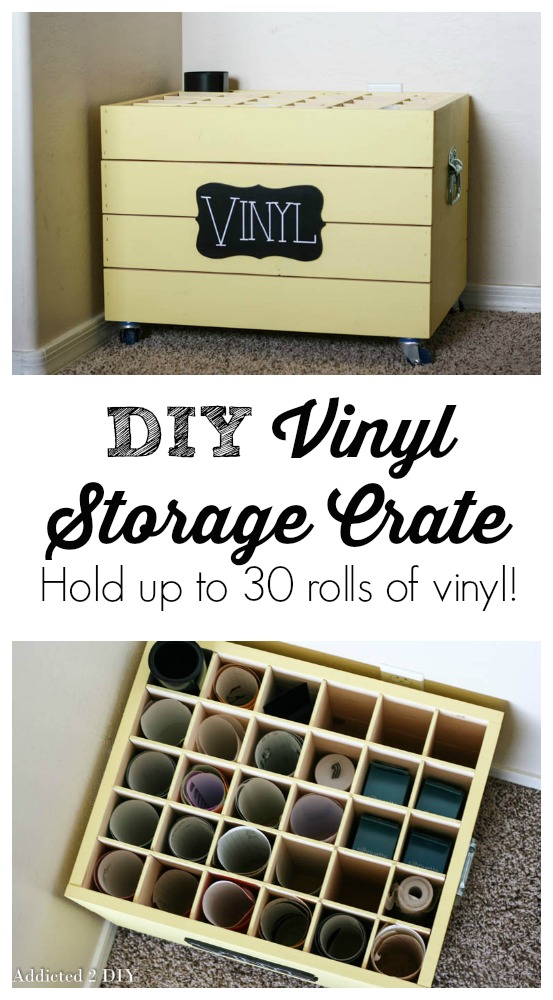 DIY Vinyl Storage Crate