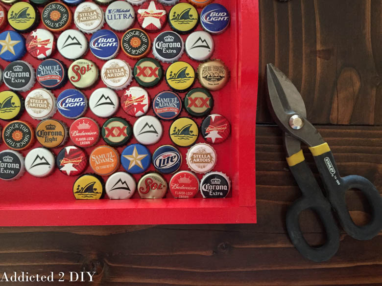 DIY Bottlecap Serving Tray