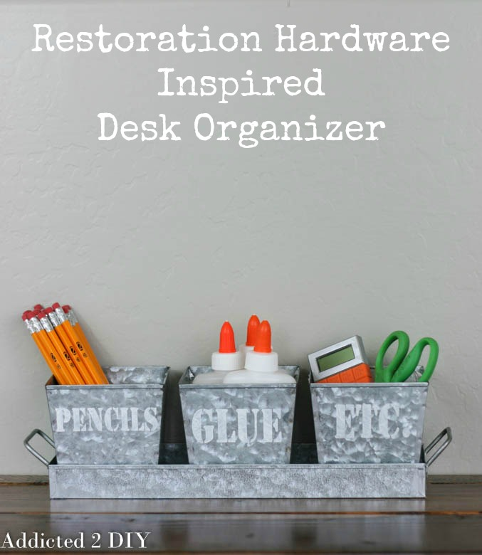 Restoration Hardware Inspired Desk Organizer