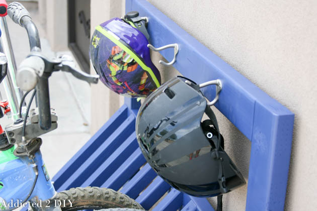 helmet hooks for bike rack