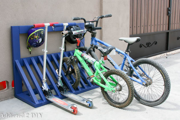 DIY bike and scooter rack