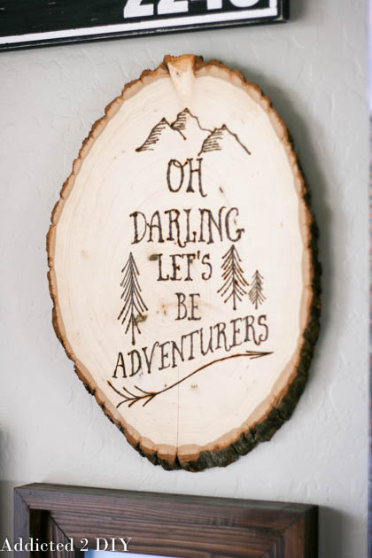Wood Burned Wall Art - Addicted 2 DIY