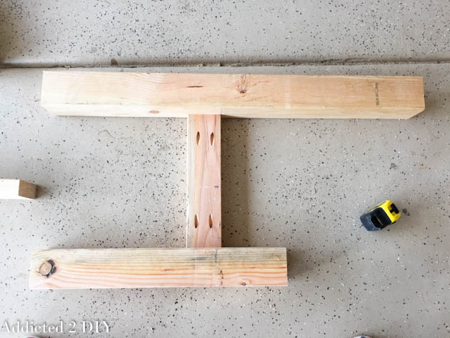 assembling sides of bench