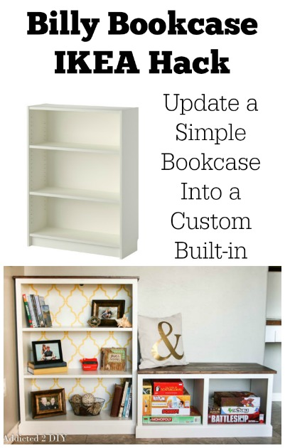 Addicted 2 DIY Bookcase IKEA Hack
