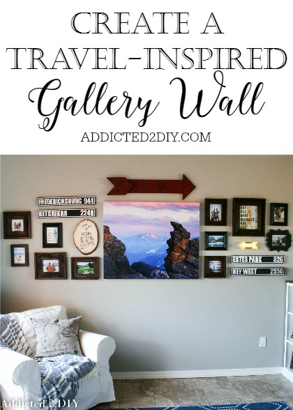 Travel Inspired Guest Room: Create A Travel Inspired Gallery Wall