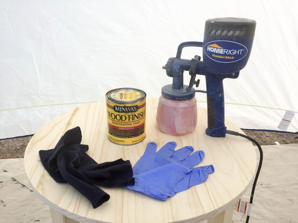 how-to-stain-a-table-with-a-paint-sprayer