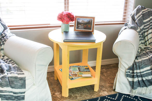 Pottery Barn-Inspired Rustic Side Table