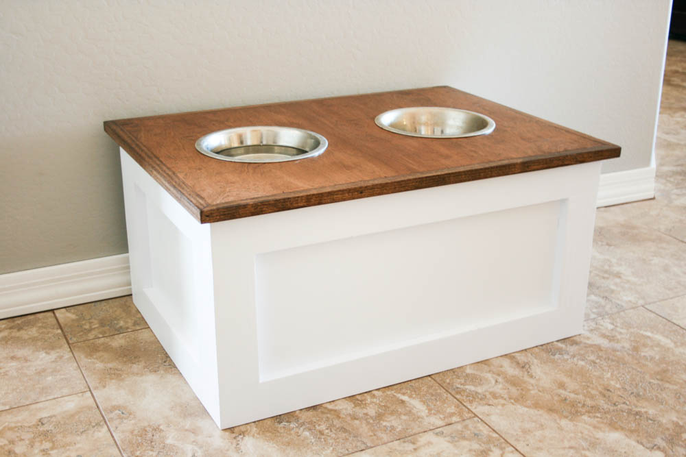 diy dog food stand