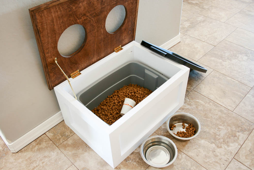 Diy Dog Food Station With Storage Addicted 2 Diy
