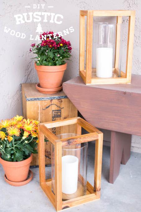 DIY Wood Lanterns