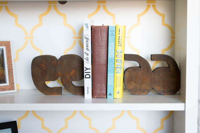 anthropologie-inspired-quotation-marks-bookends