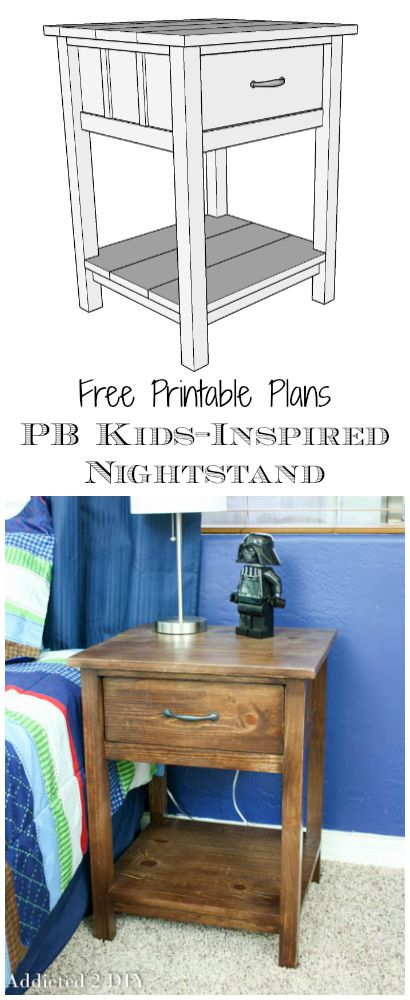 PB Kids Inspired Nightstand Plans