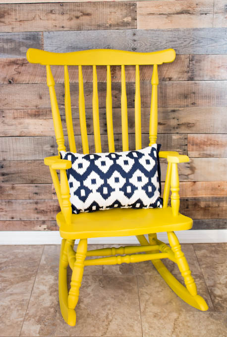 Yard sale rocking chair makeover addicted diy