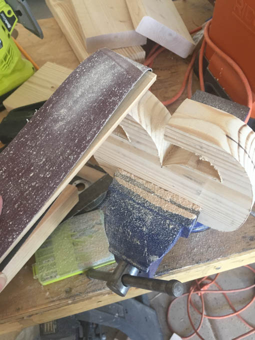 sanding-bookends