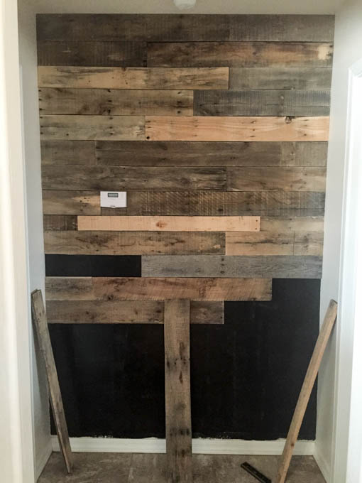 I Worked My Way Down The Wall Trying To Make Sure That Changed Things Up With Pattern It As Random Could Pallet Boards Aren T All