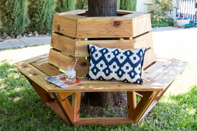 Amazing How To Build A Hexagon Cedar Bench Addicted 2 Diy Dailytribune Chair Design For Home Dailytribuneorg