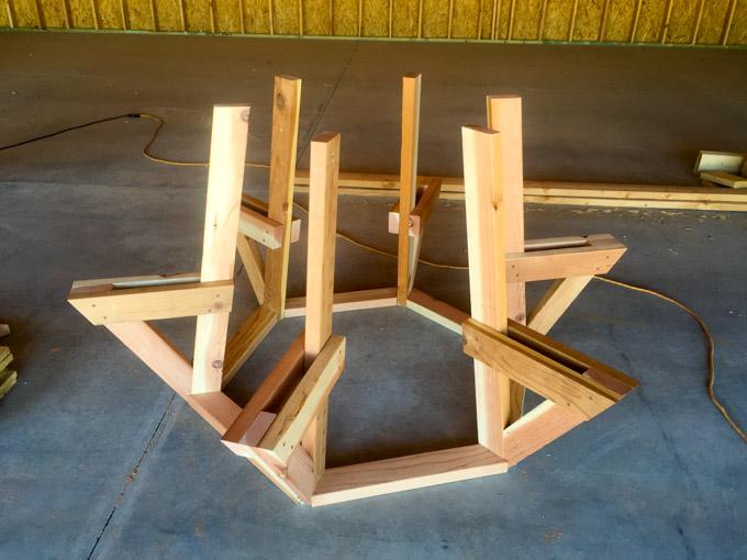 cedar bench base