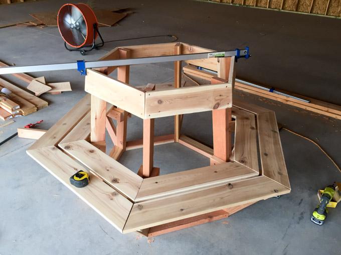 attach cedar bench seat