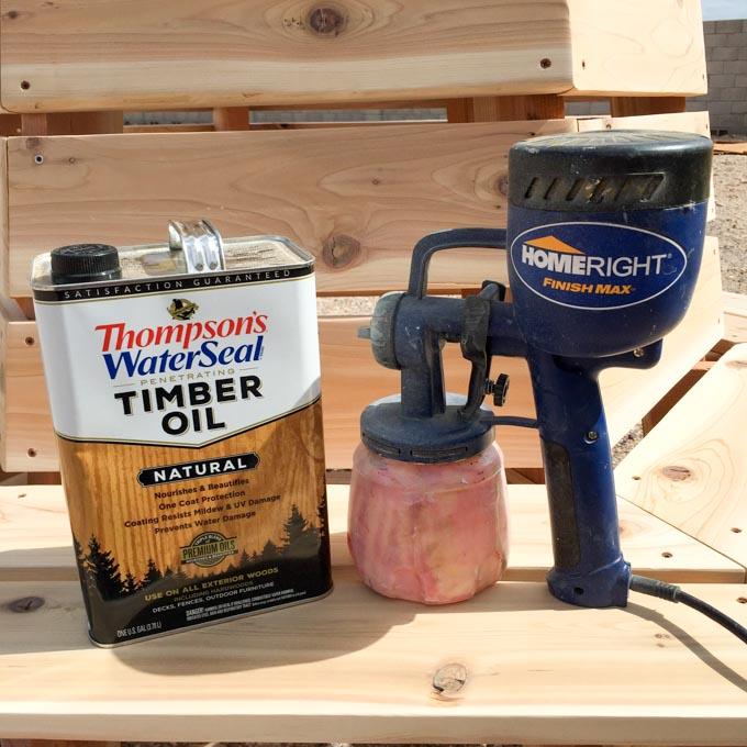 finishing cedar bench