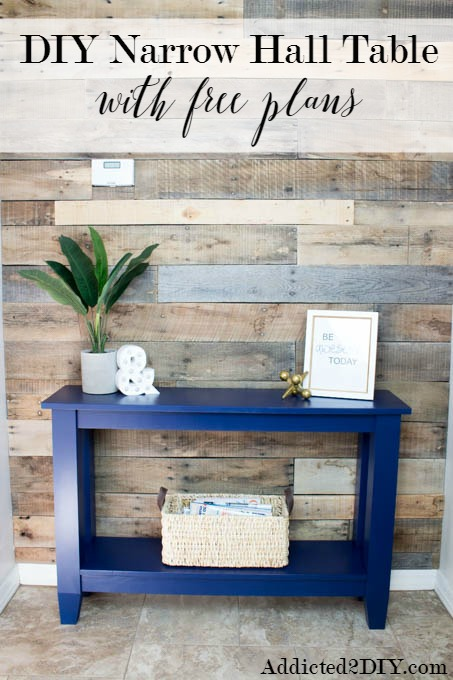 DIY Narrow Hall Table by Addicted 2 DIY