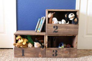 DIY Organization:  Stacking Storage Cubbies w/ Free Plans