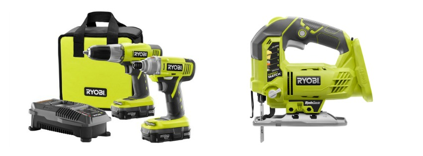 RYOBI 2-pc. DrillImpact Kit and the RYOBI One+ Jig Saw