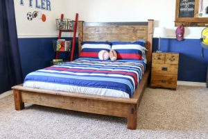 PB Teen-Inspired Double Bed + FREE Printable Plans!