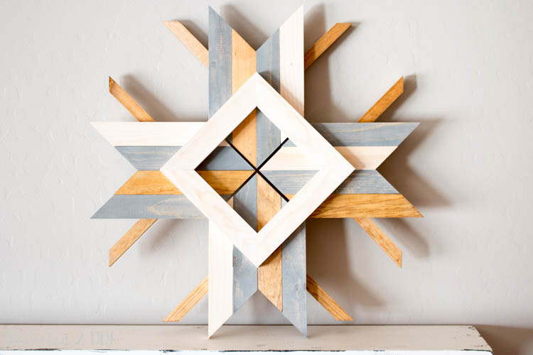 These gorgeous mid-century abstract snowflakes look just like the West Elm version but they were built for FREE using scrap wood!
