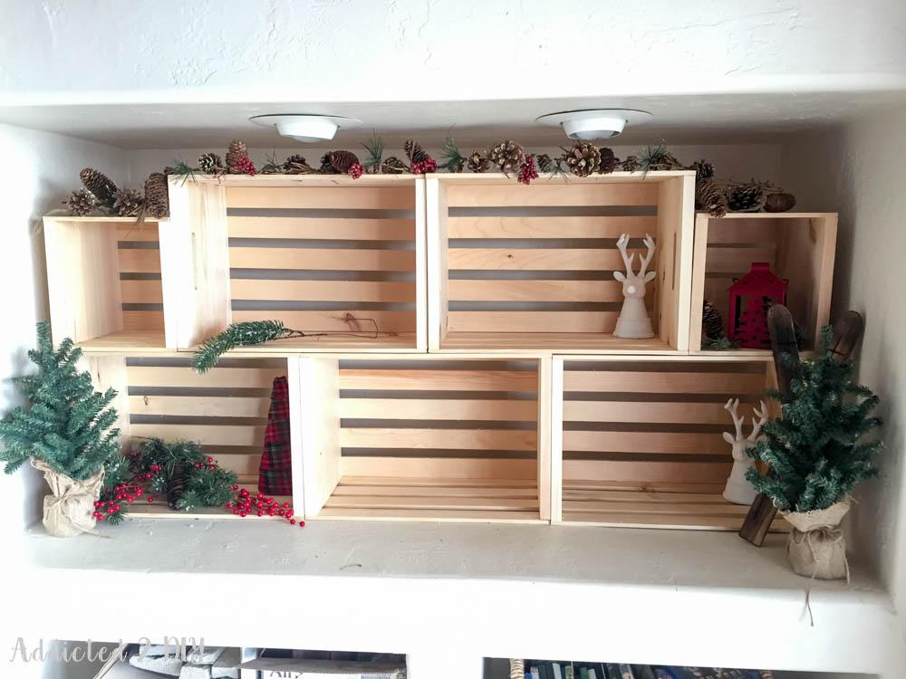 crates christmas display