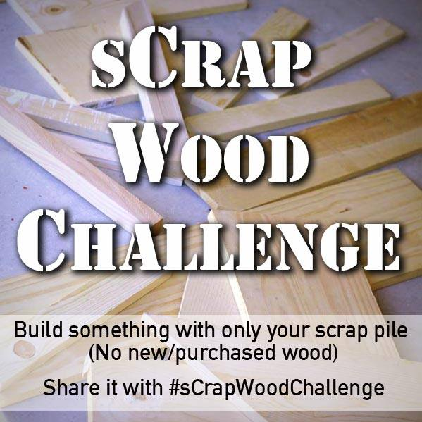 sCrap wood challenge graphic