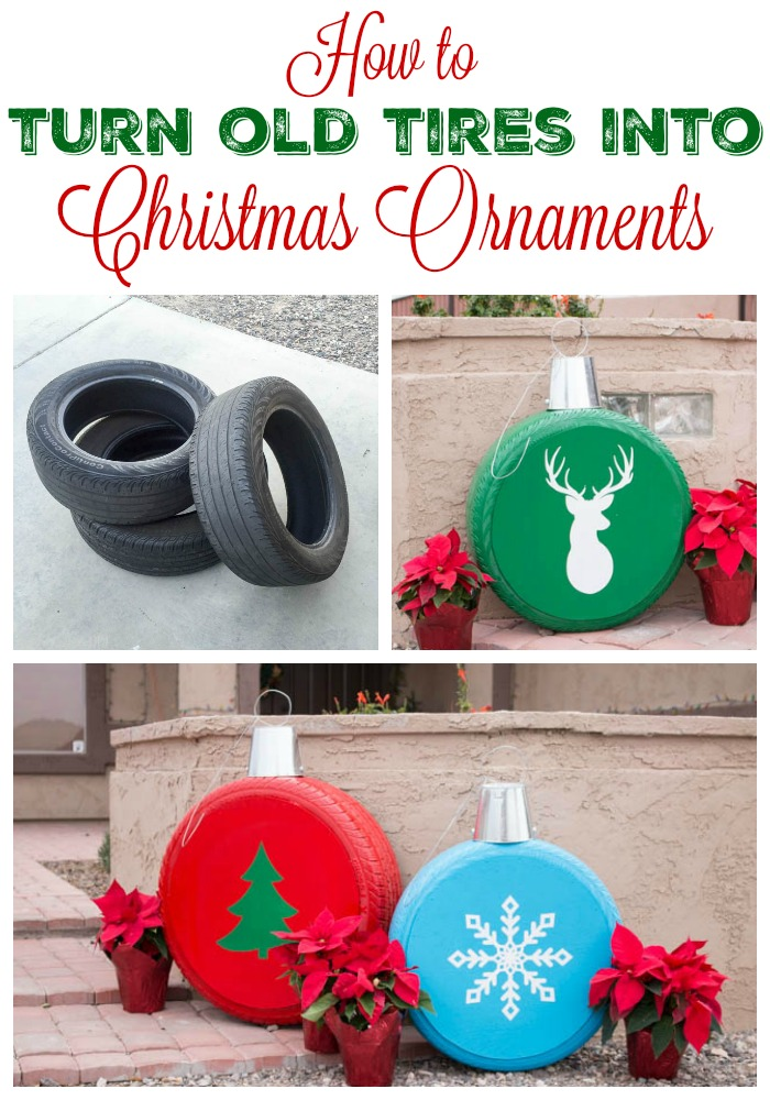 How To Make Giant Christmas Ornaments From Old Tires Addicted 2 Diy