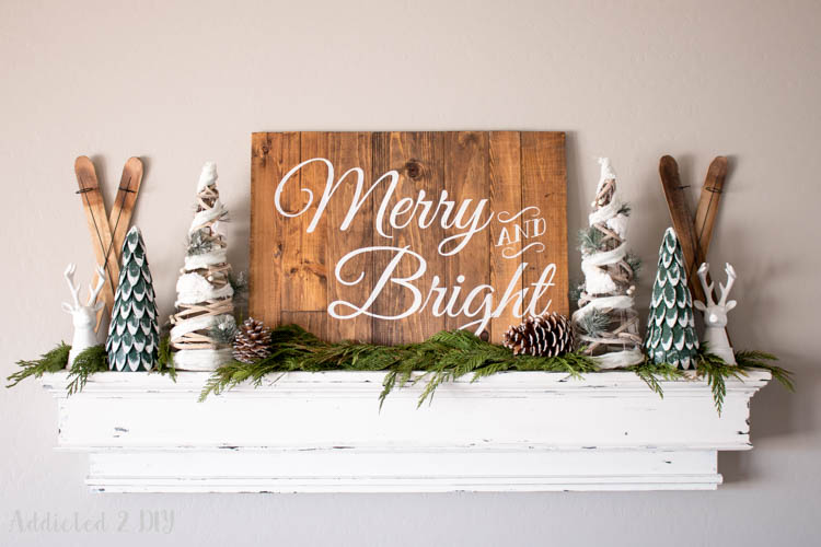 Rustic Alpine Christmas Mantel