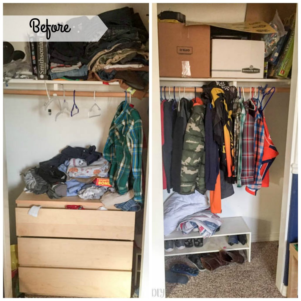 closet makeover - before photo
