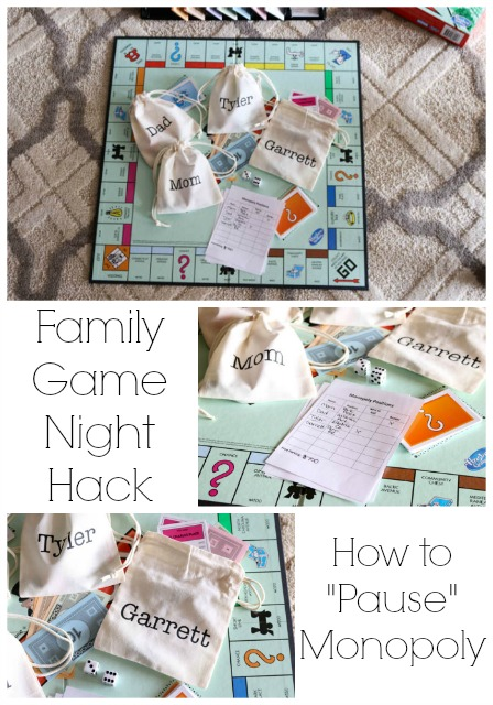 Game Night Hack:  Pause Monopoly