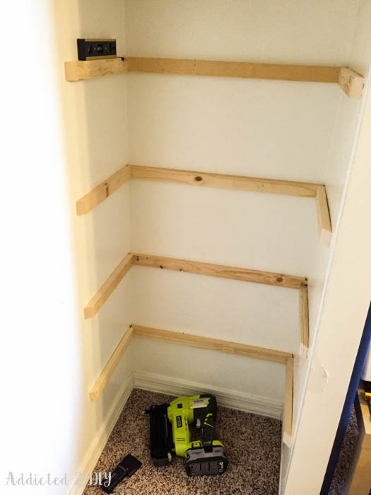 closet makeover - installing shelf cleats